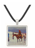 The Fall of the Cowboy - Frederic Remington -  Museum Exhibit Pendant - Museum Company Photo