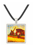 The field worker by Seurat -  Museum Exhibit Pendant - Museum Company Photo