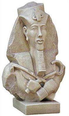 Bust of Akhenaton - Egyptian Museum, Cairo,  1365BC - Photo Museum Store Company