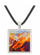 The Grand Canyon of Yellowstone (1893) - Thomas Le Clear -  Museum Exhibit Pendant - Museum Company Photo