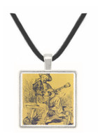The guitar Player by Manet -  Museum Exhibit Pendant - Museum Company Photo