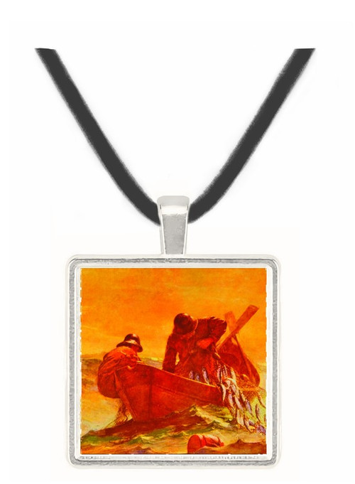 The Herring Net - Winslow Homer -  Museum Exhibit Pendant - Museum Company Photo