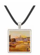 The House Guards and Melbourne House - Robert Havell -  Museum Exhibit Pendant - Museum Company Photo