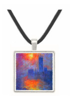 The Houses of Parliament, Sunset by Monet -  Museum Exhibit Pendant - Museum Company Photo