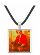 The Hurdy Gurdy Boy - William Michael Harnett -  Museum Exhibit Pendant - Museum Company Photo