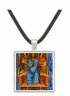 The Initial B with Christ Blessing Seated on His Throne -  Museum Exhibit Pendant - Museum Company Photo