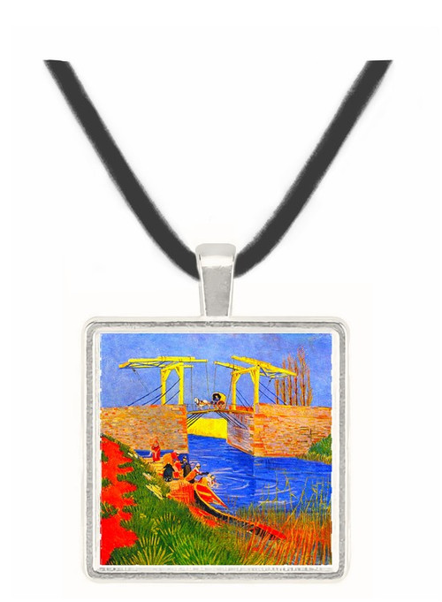 The Langlois Bridge at Arles with Women Washing -  Museum Exhibit Pendant - Museum Company Photo