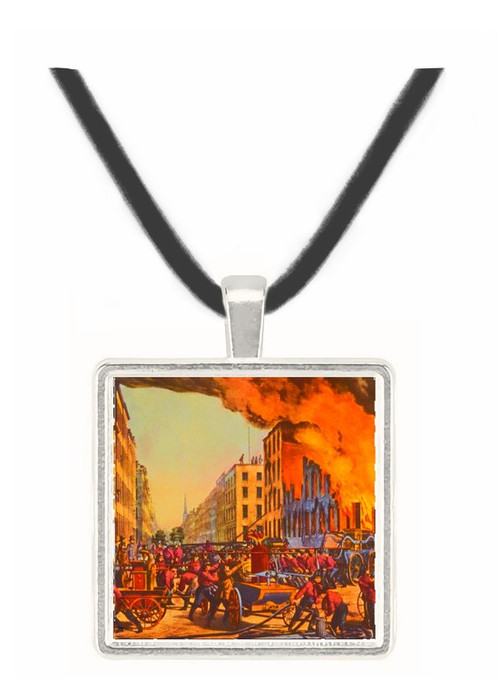 The Life of a Fireman - Currier and Ives -  Museum Exhibit Pendant - Museum Company Photo