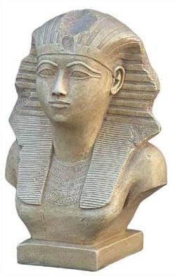Bust of Queen Hatshepsut - Metropolitan Museum of Art, New York. 18th Dynasty  1500 B.C. - Photo Museum Store Company