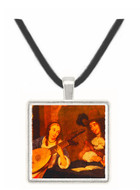 The Lute - Gerard Terborch -  Museum Exhibit Pendant - Museum Company Photo
