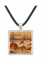 The Mail Coach in a Drift of Snow - James Pollard -  Museum Exhibit Pendant - Museum Company Photo