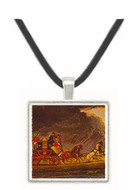 The Mail Coach in a Thunderstorm on... - James Pollard -  Museum Exhibit Pendant - Museum Company Photo