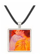 The Maternal Kiss - Mary Stevenson Cassatt -  Museum Exhibit Pendant - Museum Company Photo