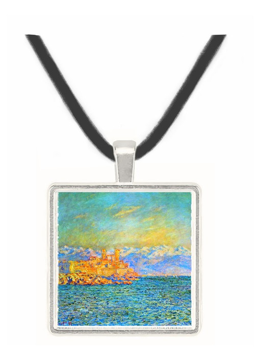The old Fort in Antibes by Monet -  Museum Exhibit Pendant - Museum Company Photo