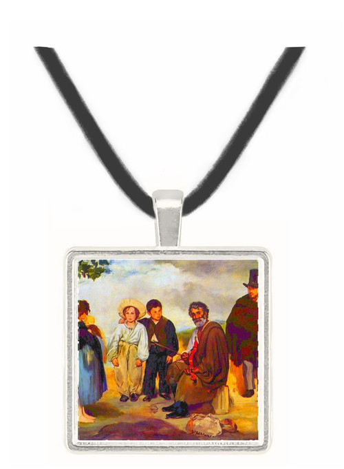 The old musician by Manet -  Museum Exhibit Pendant - Museum Company Photo