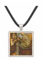 The painter in the studio of Bazille by Renoir -  Museum Exhibit Pendant - Museum Company Photo