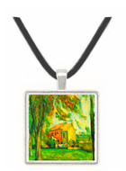 The Pond of the Jas de Bouffan in Winter by Cezanne -  Museum Exhibit Pendant - Museum Company Photo