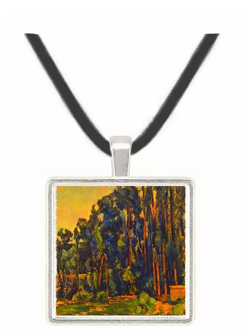 The Poplars - Paul Cezanne -  Museum Exhibit Pendant - Museum Company Photo