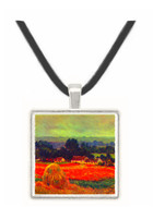 The poppy Blumenfeld (The barn) by Monet -  Museum Exhibit Pendant - Museum Company Photo