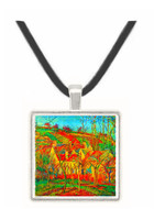 The red roofs by Pissarro -  Museum Exhibit Pendant - Museum Company Photo