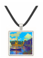 The road bridge, Argenteuil by Monet -  Museum Exhibit Pendant - Museum Company Photo