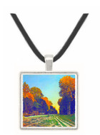The road from Chailly to Fontainebleau by Monet -  Museum Exhibit Pendant - Museum Company Photo