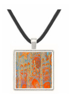 The Rouen Cathedral - The facade at sunset by Monet -  Museum Exhibit Pendant - Museum Company Photo