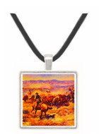 The Roundup - Charles M. Russell -  Museum Exhibit Pendant - Museum Company Photo