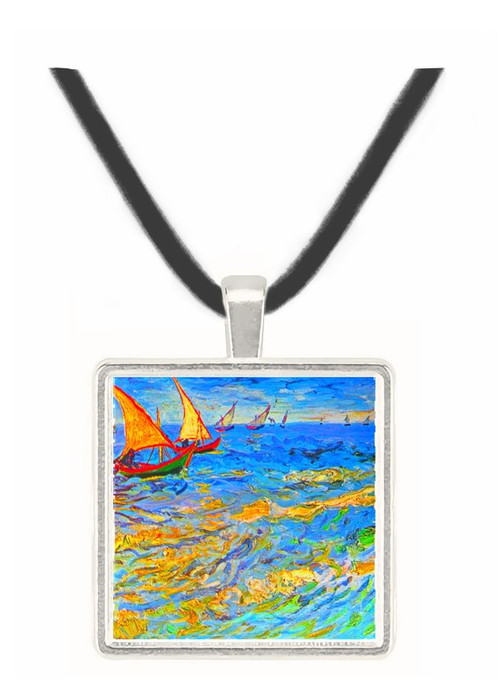 The sea at Saintes-Maries by Van Gogh -  Museum Exhibit Pendant - Museum Company Photo