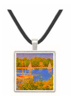 The Seine at Argenteuil Basin by Monet -  Museum Exhibit Pendant - Museum Company Photo