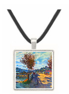The Seine at Bougival by Monet -  Museum Exhibit Pendant - Museum Company Photo