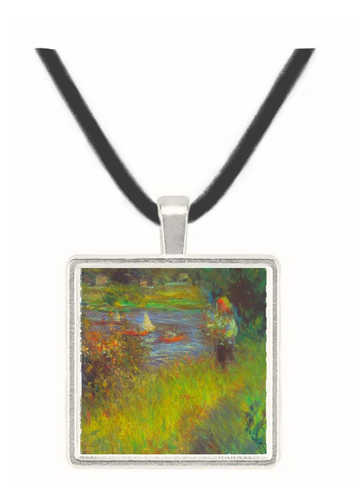 The Seine at Chatou (Detail) by Renoir -  Museum Exhibit Pendant - Museum Company Photo