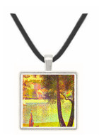 The Seine at Courbevoie by Seurat -  Museum Exhibit Pendant - Museum Company Photo