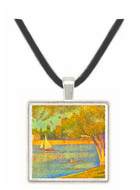 The Seine at the Grand Jatte, Spring by Seurat -  Museum Exhibit Pendant - Museum Company Photo