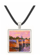 The Seine with the Pont de la Grande Jette -  Museum Exhibit Pendant - Museum Company Photo