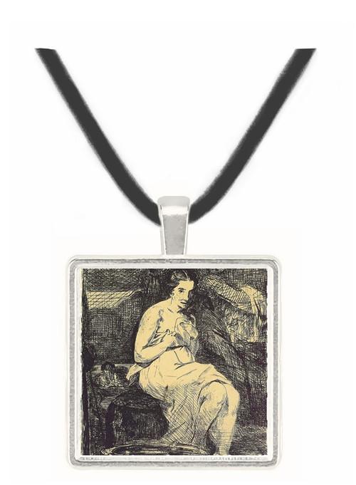 The Toillette by Manet -  Museum Exhibit Pendant - Museum Company Photo