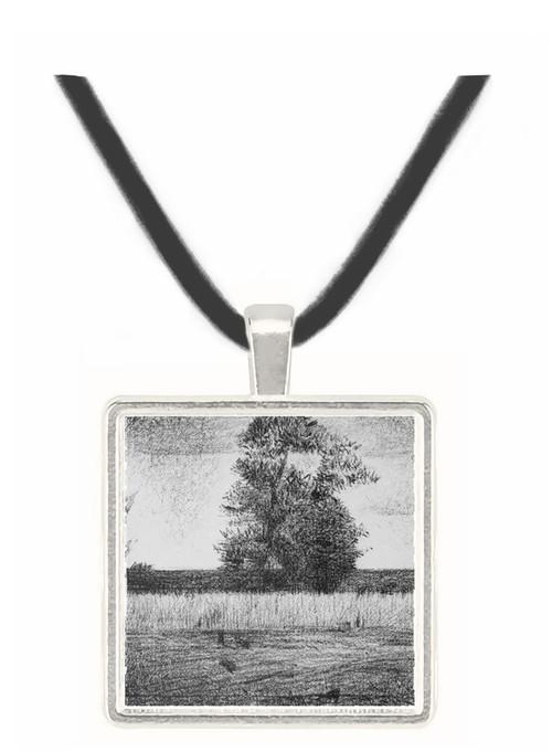 The trees by Seurat -  Museum Exhibit Pendant - Museum Company Photo