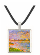 The two banks by Seurat -  Museum Exhibit Pendant - Museum Company Photo