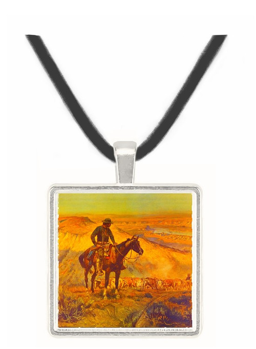 The Wagon Boss - Charles M. Russell -  Museum Exhibit Pendant - Museum Company Photo