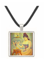 The woman with the powder puff by Seurat -  Museum Exhibit Pendant - Museum Company Photo