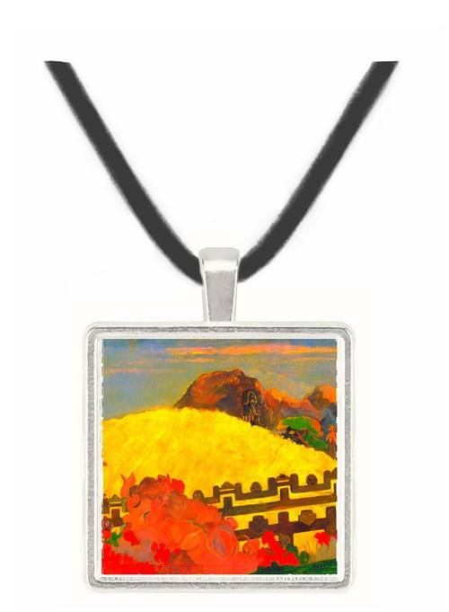 There is the Temple by Gauguin -  Museum Exhibit Pendant - Museum Company Photo