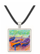 three fishing boats in Eretrat by Monet -  Museum Exhibit Pendant - Museum Company Photo
