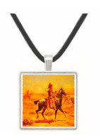 Through the Alkali - Charles M. Russell -  Museum Exhibit Pendant - Museum Company Photo