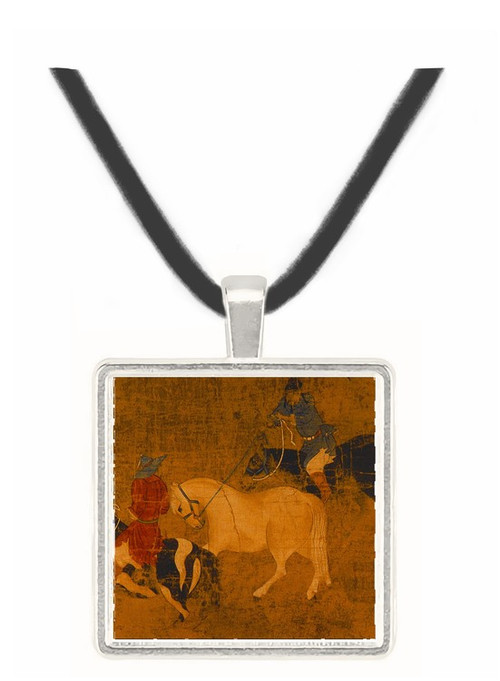 Tribute Horses - unknown artist -  Museum Exhibit Pendant - Museum Company Photo