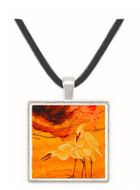 Two Egrets - Leondardo da Vinci -  Museum Exhibit Pendant - Museum Company Photo