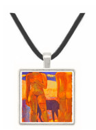 Two Figures on a Tahitian Beach - Paul Gauguin -  Museum Exhibit Pendant - Museum Company Photo