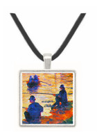 Two Fishermen by Seurat -  Museum Exhibit Pendant - Museum Company Photo