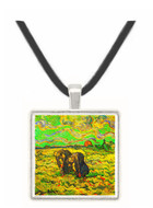 Two Peasant Women Digging in Field with Snow -  Museum Exhibit Pendant - Museum Company Photo
