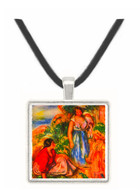 Two women with young girls in a landscape by Renoir -  Museum Exhibit Pendant - Museum Company Photo