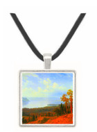 View of the Hudson River Vally by Bierstadt -  Museum Exhibit Pendant - Museum Company Photo